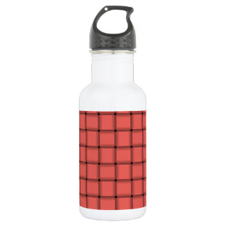Large Weave - Pastel Red Stainless Steel Water Bottle