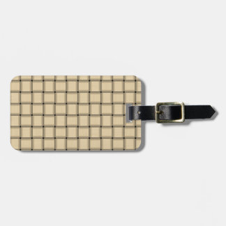 Large Weave - Peach Luggage Tags