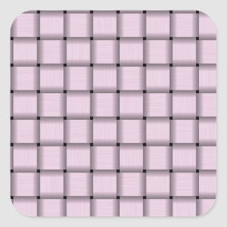 Large Weave - Pink Lace Square Sticker