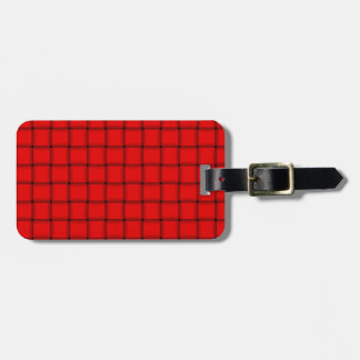 Large Weave - Red Bag Tag