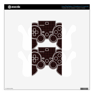 Large Weave - Seal Brown PS3 Controller Skin