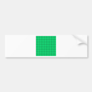 Large Weave - Spring Green Bumper Stickers