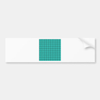 Large Weave - Turquoise Bumper Sticker