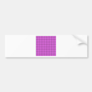 Large Weave - Ultra Pink Bumper Sticker