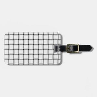 Large Weave - White Luggage Tag