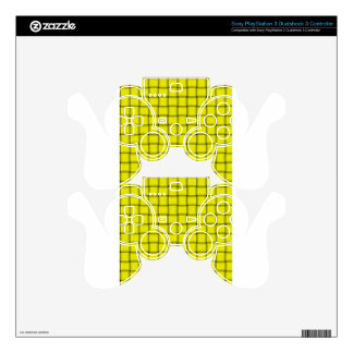 Large Weave - Yellow PS3 Controller Decals