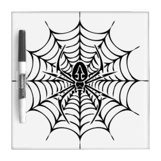 Large web with spider Dry-Erase board