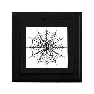 Large web with spider gift box
