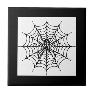 Large web with spider tile