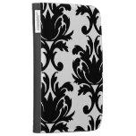 large white and black bold damask kindle folio cases