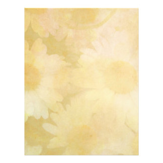 Large White Daisies on a Faded Yellow Background Letterhead
