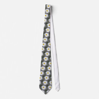 Large White Daisy Tie