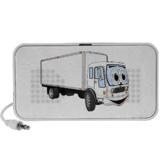 Large White Delivery Truck Cartoon iPhone Speaker