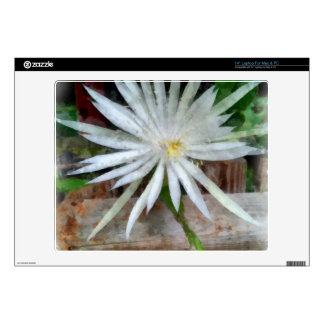 """Large white flower decals for 14"""" laptops"""