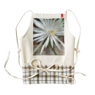 Large white flower zazzle HEART apron