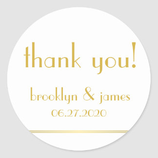 Large White Golden Great Gatsby Wedding Stickers