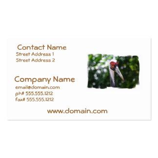 Large White Naped Crane Business Cards