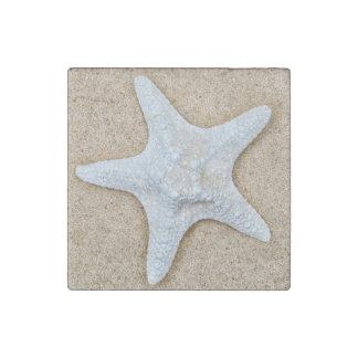 Large White Starfish Stone Magnet