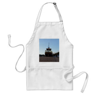 Large Wooden Fishing Boat Adult Apron