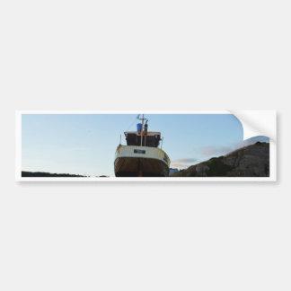 Large Wooden Fishing Boat Bumper Sticker