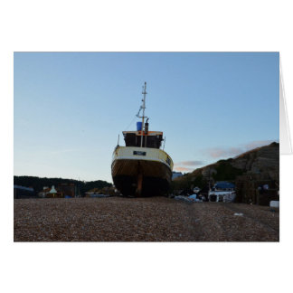 Large Wooden Fishing Boat Card