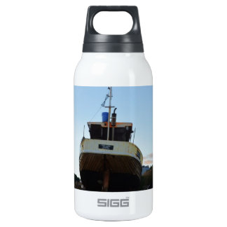 Large Wooden Fishing Boat Insulated Water Bottle