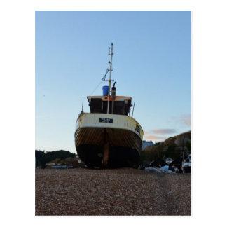Large Wooden Fishing Boat Postcard