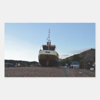 Large Wooden Fishing Boat Rectangular Sticker