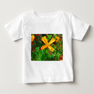 Large yellow and orange flowers close up baby T-Shirt