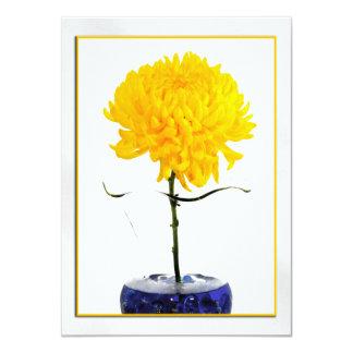 Large Yellow Chrysanthemum Photograph Card