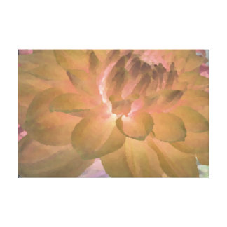 Large Yellow Dahlia Stretched Canvas Print