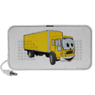 Large Yellow Delivery Truck Cartoon Travel Speaker