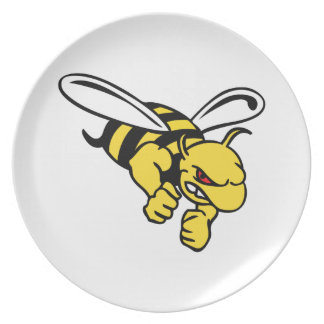 LARGE YELLOW JACKET DINNER PLATE