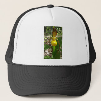 Large Yellow Lady Slipper Cypripedium Trucker Hat