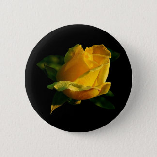 Large Yellow Rose Button