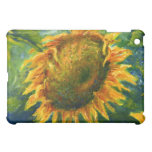 Large Yellow Sunflower in Green and Blue iPad Mini Cover