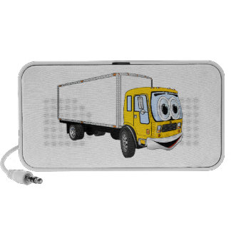 Large Yellow White Delivery Truck Cartoon iPhone Speaker
