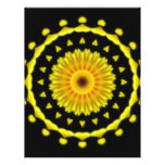 Large Yellow Wildflower Kaleidoscope Art 2 Full Color Flyer
