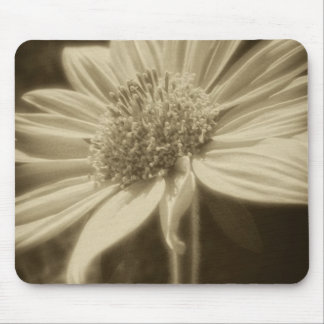 Large Yellow Wildflowers 2 Antiqued Mouse Pad
