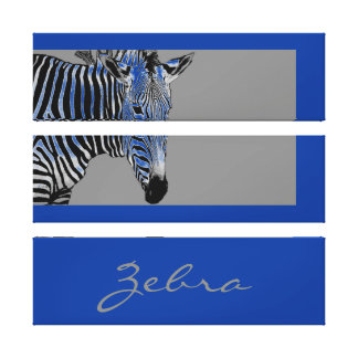 Large Zebra Drawing Canvas Print