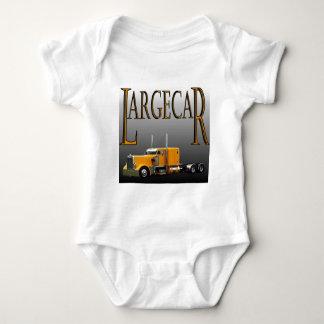 Largecar Blk Baby Bodysuit