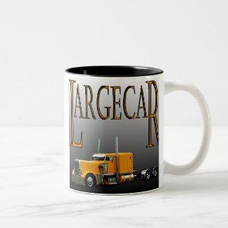 Largecar Blk Two-Tone Coffee Mug