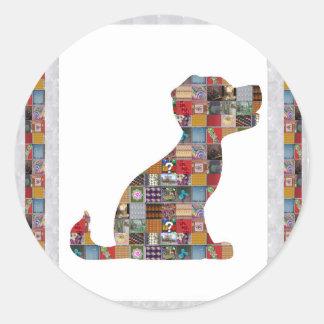 LARGEcard NOTEcard GREETINGcard Sticker NVN478 DOG Round Stickers