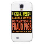 LargeFRAUDpIGS Galaxy S4 Case