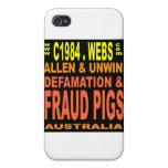 LargeFRAUDpIGS iPhone 4/4S Cases