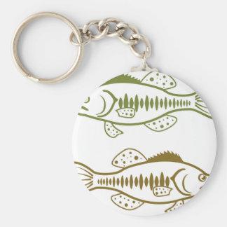 Largemouth Bass Basic Round Button Keychain