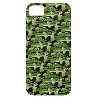 Largemouth Bass Camo Pattern on black iPhone SE/5/5s Case