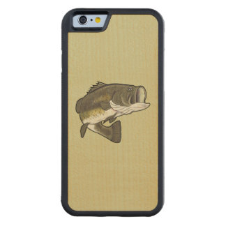 Largemouth Bass Carved Maple iPhone 6 Bumper Case