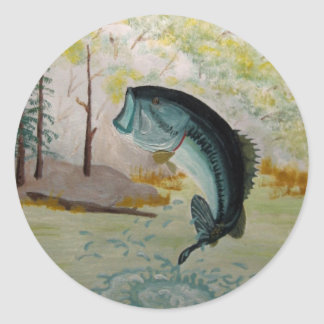 Largemouth Bass Classic Round Sticker