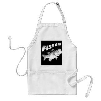 Largemouth bass fish on adult apron